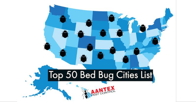 Top 50 Bed Bug Cities List