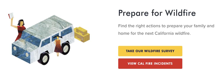 Cal Fire - Prepare for Wildfire Survey